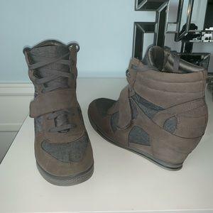 Wedge Heeled tennis shoes